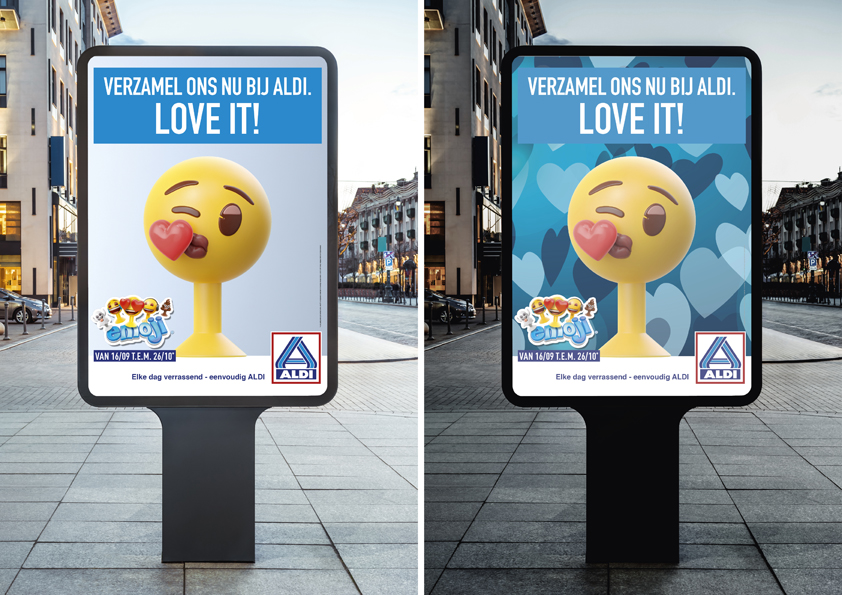 ALDI takes to the streets together with ClearChannel, Blue449, Outsight and The Backroom with the emoji®!